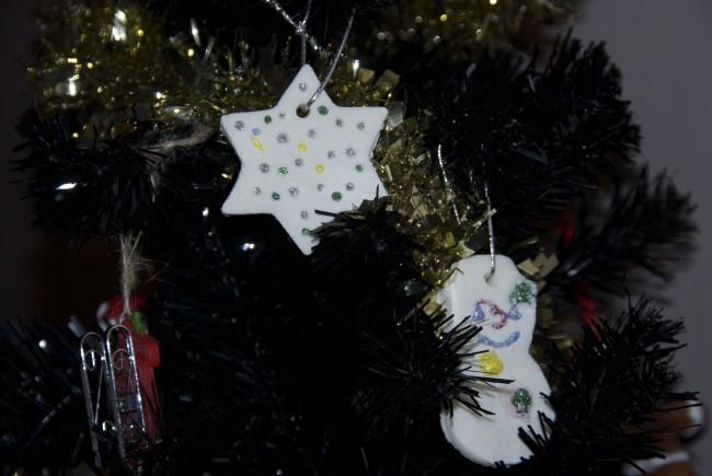 Cornflour dough Christmas Ornaments