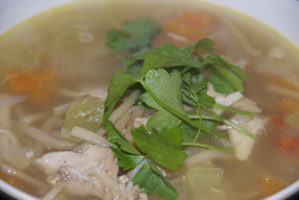 Homemade turkey noodle soup - Mummy..Mummy..MUM!!!
