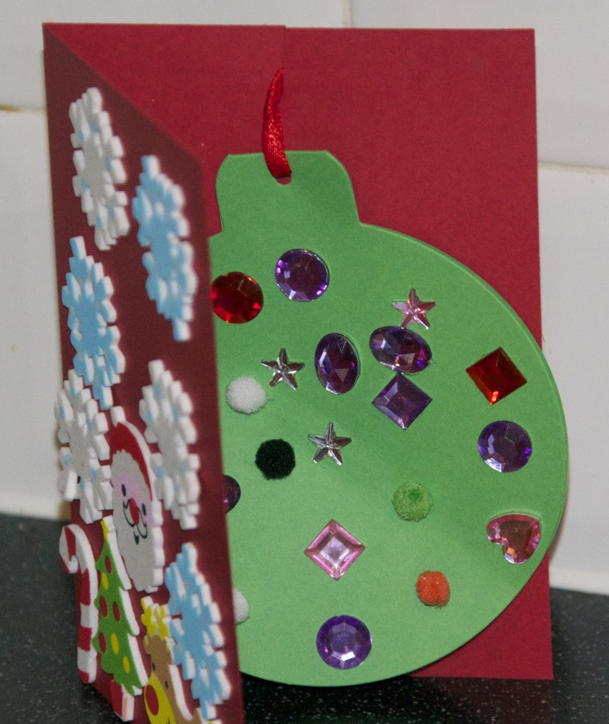 Christmas Cards Ideas For Children To Make Part - 31: Inside Is A Bauble Made From Special Cards, The Idea Being That The Kids  Can Make ...