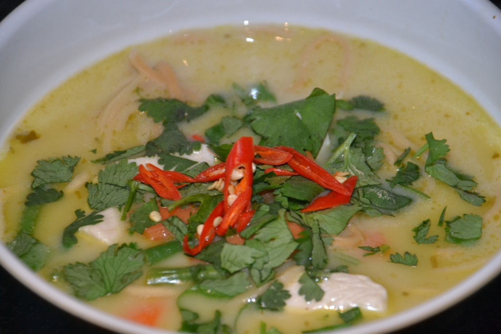 thai chicken soup in a cup