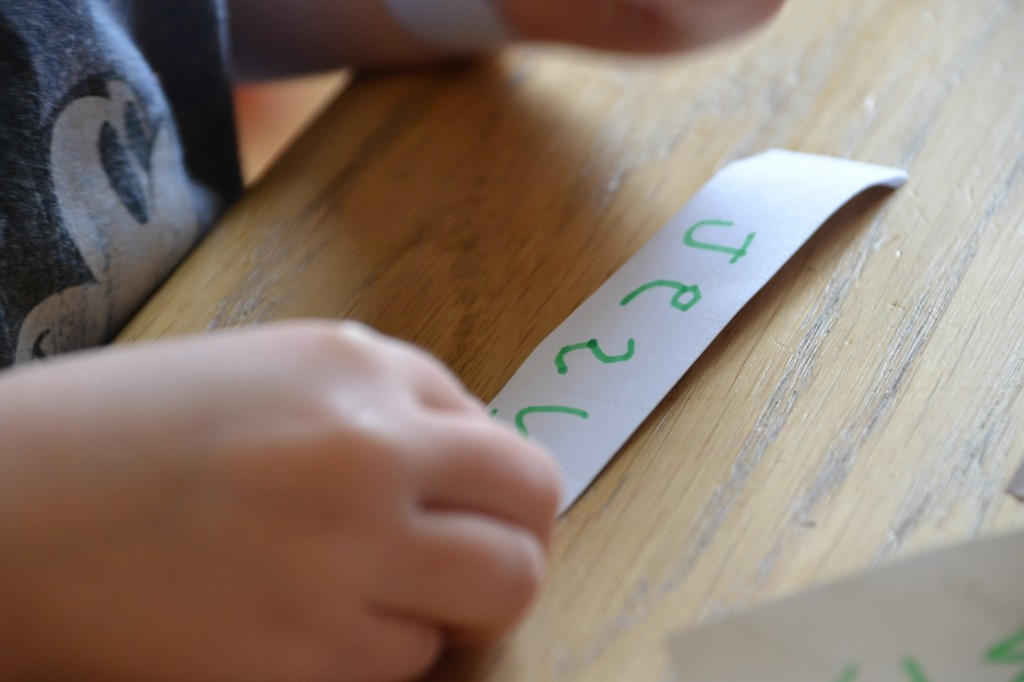 Easy wrist bands for writing practice