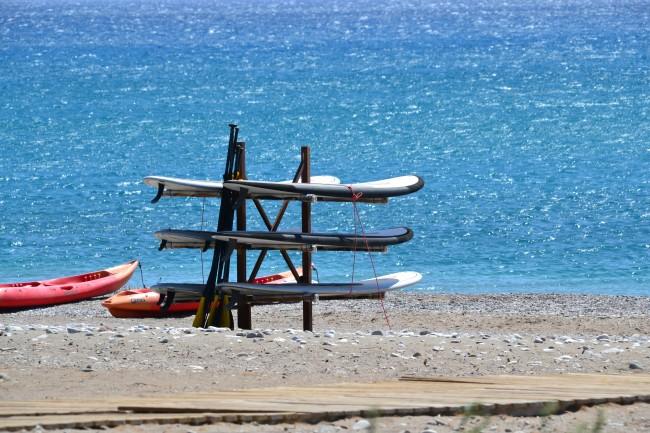 Windsurfing at Levante beach