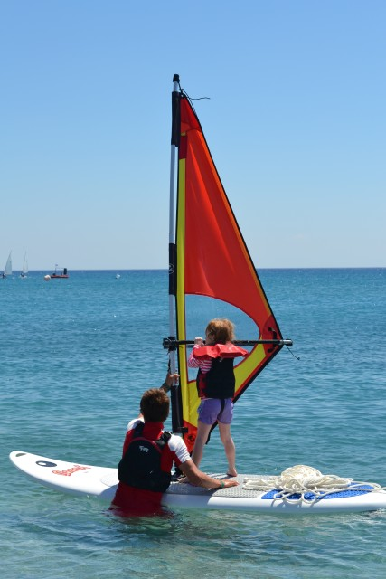 Windsurfing in Junior Club