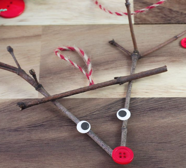 Twig Christmas decorations