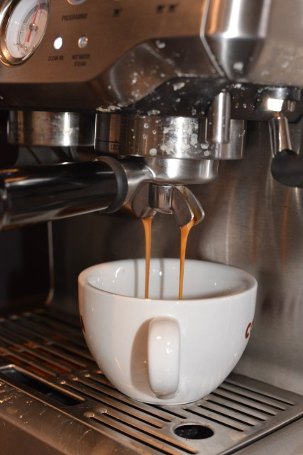 espresso with the sage coffee machine