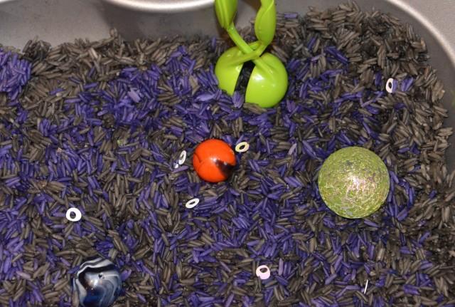 rice sensory tub
