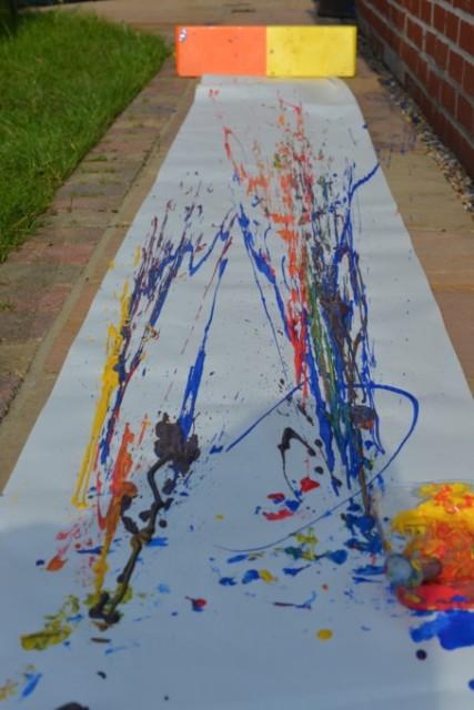 syringe painting