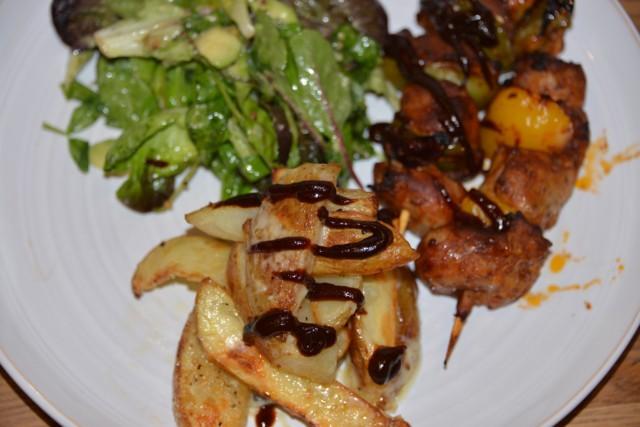BBQ sasuage skewers