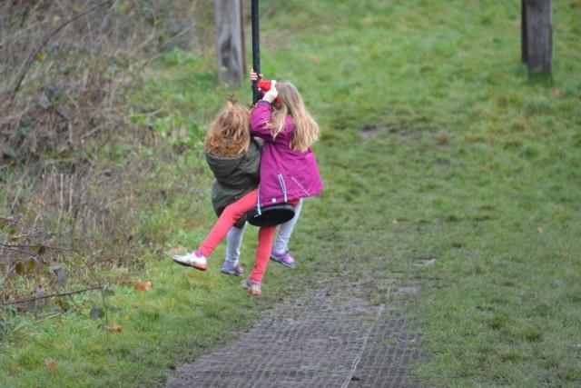 kids on zip line