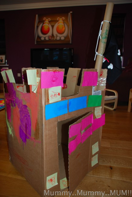 What to do with a giant box? Make a castle..