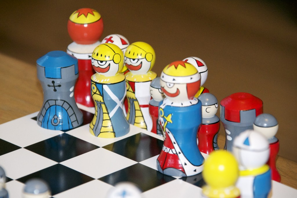 Knights and Nobles Wooden Chess Set