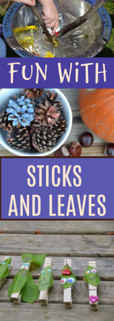 Fun things to do with sticks and leaves #stickcrafts #craftsforkids #forestschool #forestcrafts