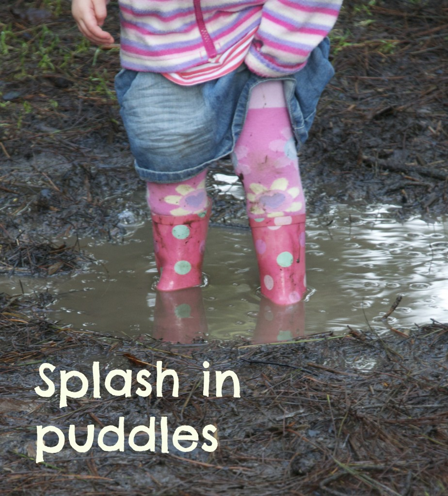 Splash in puddles