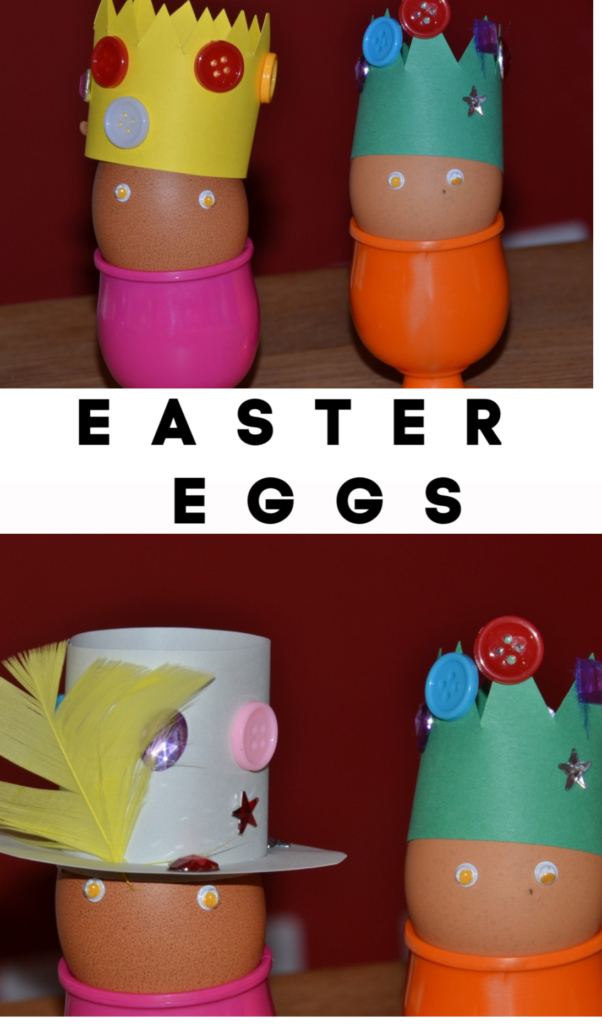 Hats for Eggs - Easter Crafts for kids