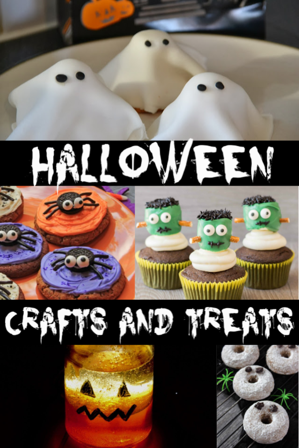 Easy Halloween crafts and treats for kids #Halloween #Halloweentreats #Halloweencrafts