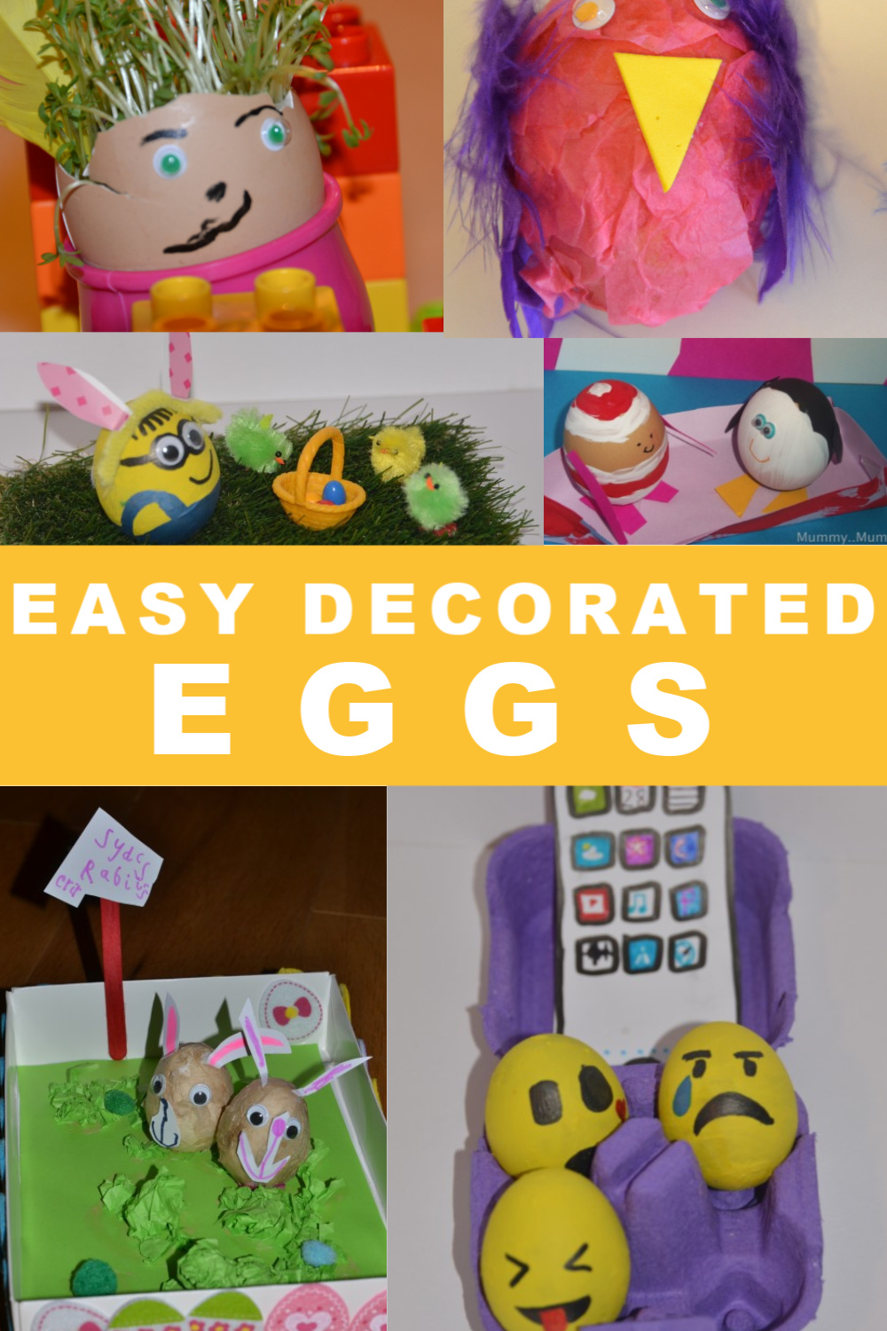 Easy decorated eggs for Easter