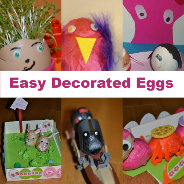 Easy decorated easter eggs