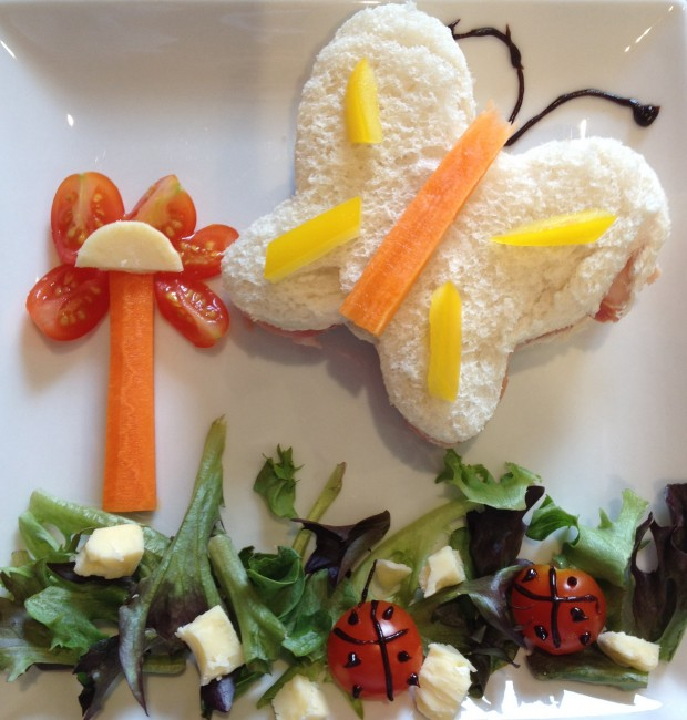 butterfly themed lunch