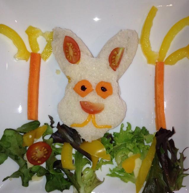 Rabbit themed lunch