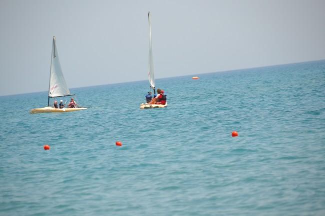 Sailing at Mark Warner – Levante Beach