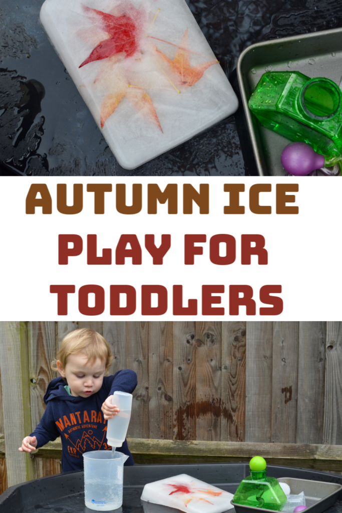 Autumn Ice Play for toddlers #sensoryplay #toddlerplay #scienceforkids #iceexperiments #fallscience