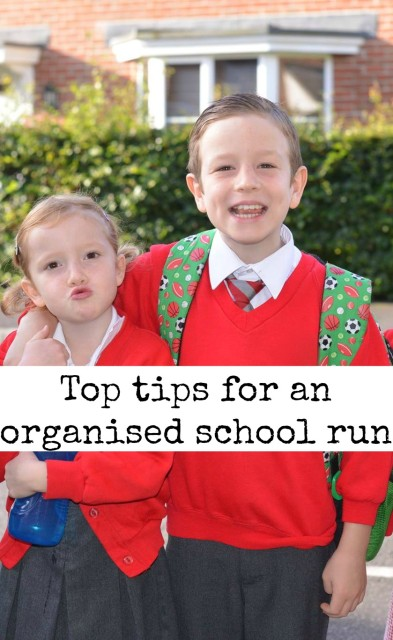 top tips for an organised school run