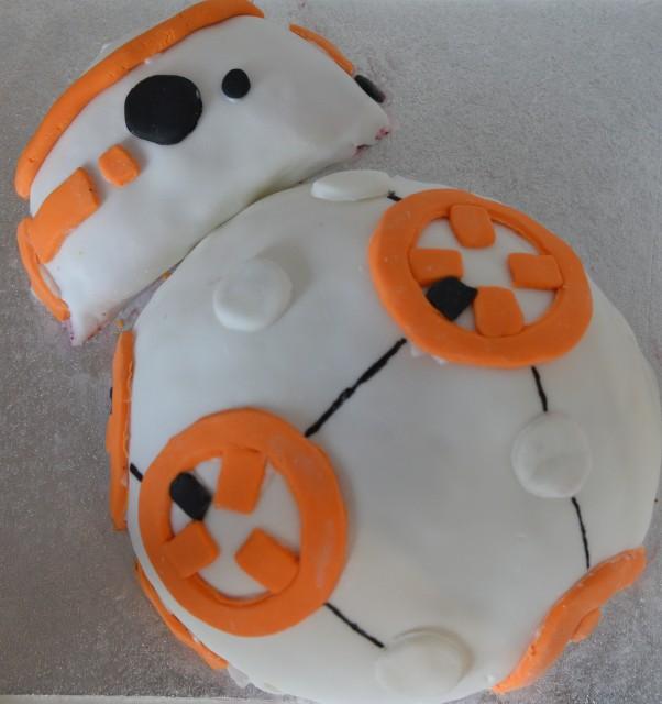 Easy BB-8 cake