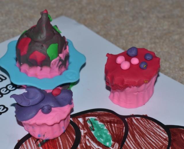 plasticine softeez cupcakes