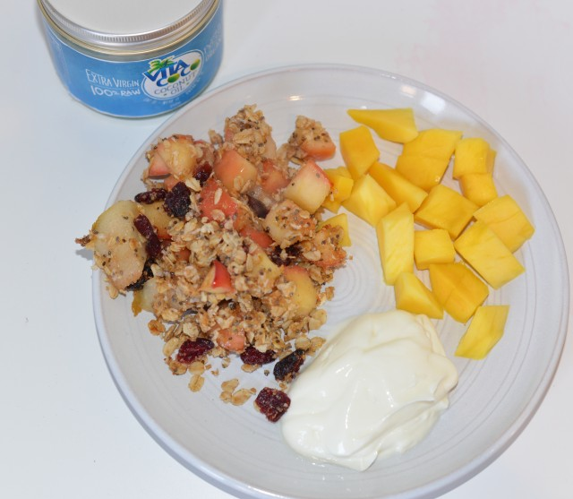 Fruity coconut crumble