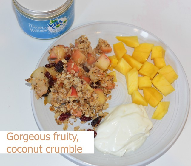 Fruity- coconut-crumble