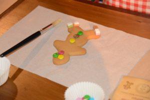 Gingerbread decorating at Lapland UK