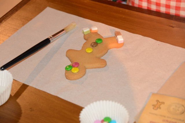Gingerbread decorating at Lapland UK