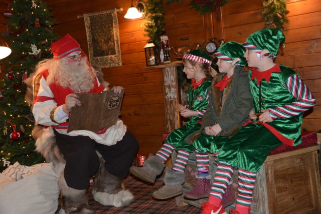Meeting Santa at Lapland UK