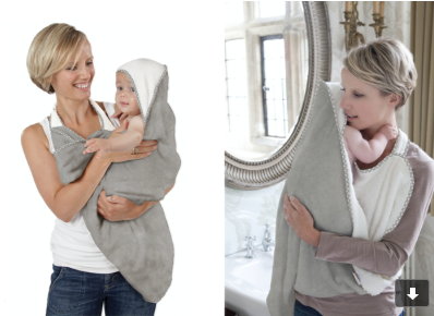 Cuddledry towel handsfree