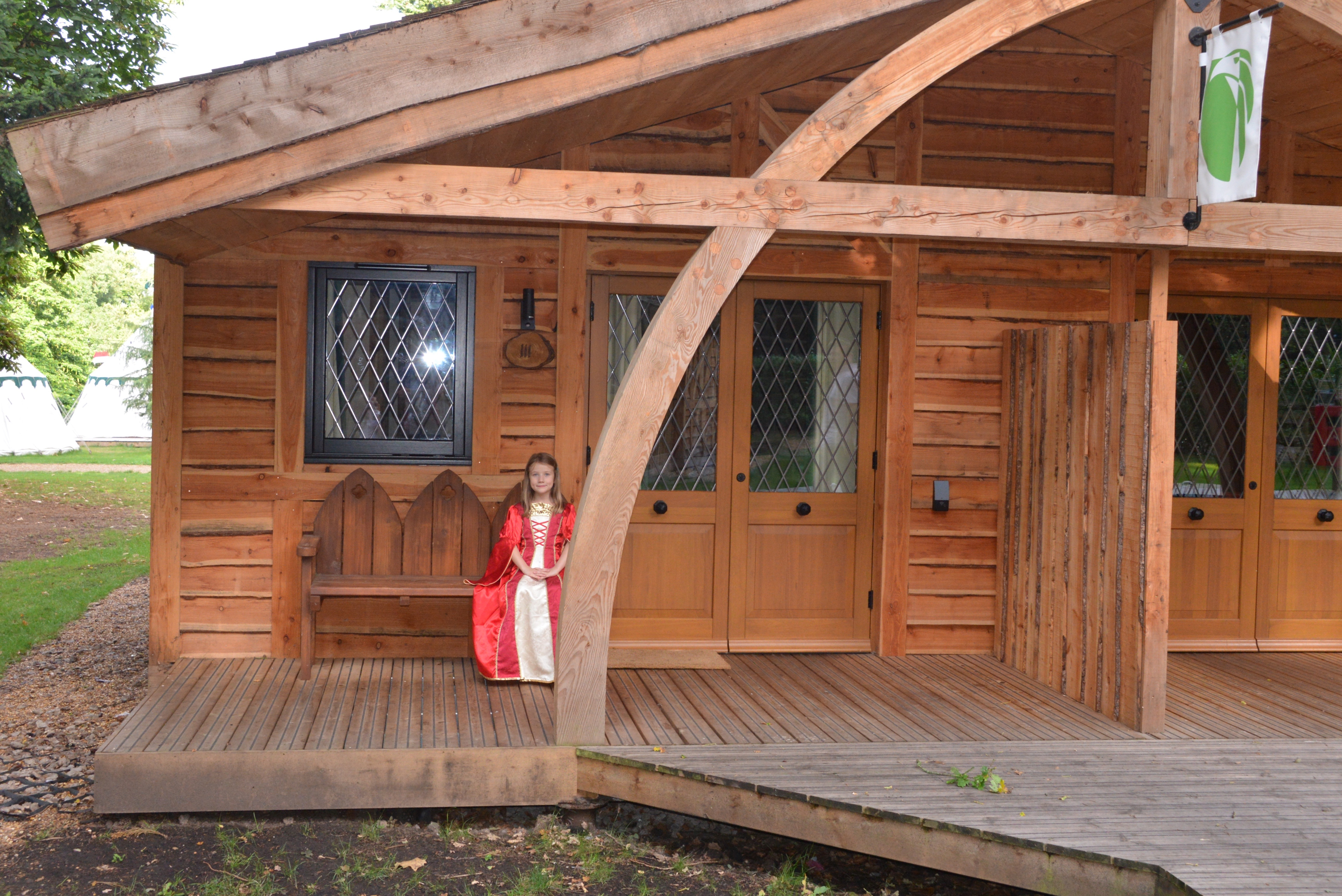 Woodland Lodges sleep up to five in two bedrooms on one floor while a  Knight's Lodges sleep up to seven across two storeys, including a mezzanine level with master bedroom.