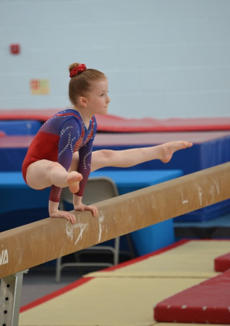 Gymnast on beam