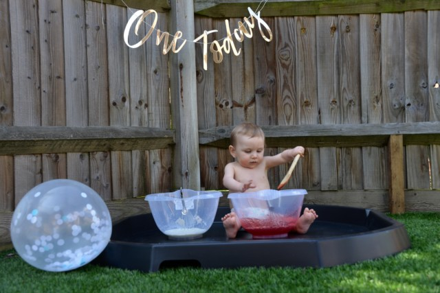 First birthday messy play