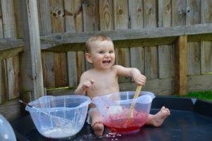 First birthday messy play