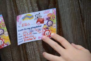 teletubby invitations
