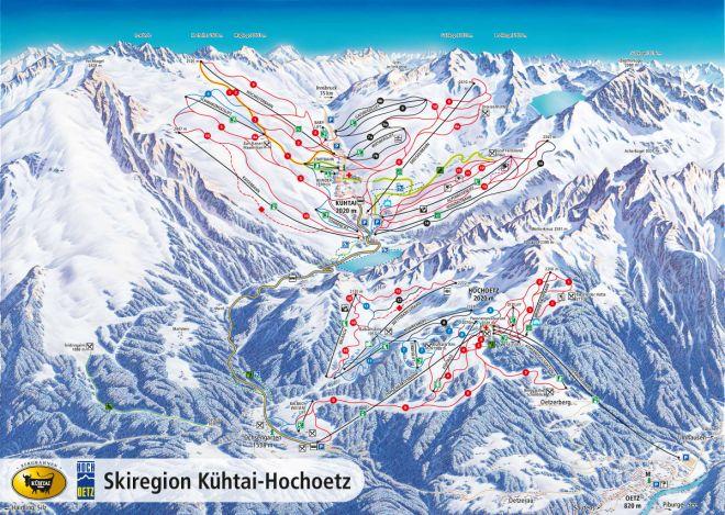 Austrian piste map