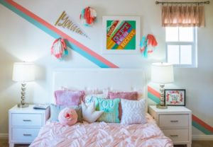 Colourful bedroom image