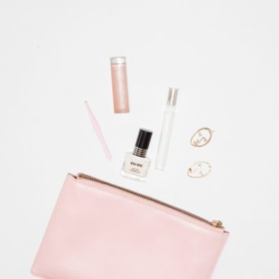 Make up bag with contents spilling out