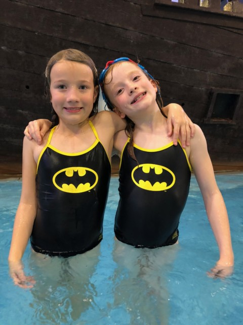 Zoggs batman swimming costume