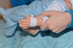 Tiny treasure doll hospital band
