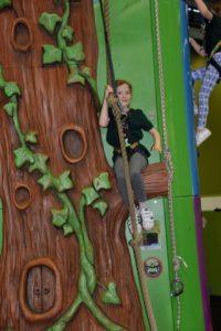 Indoor climbing at Center Parcs