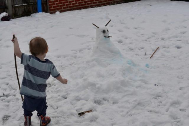 Gruffalo snowman