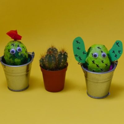 Easy Cactus Decorated Egg