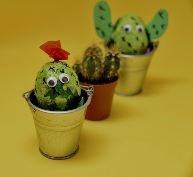 Cactus decorated eggs