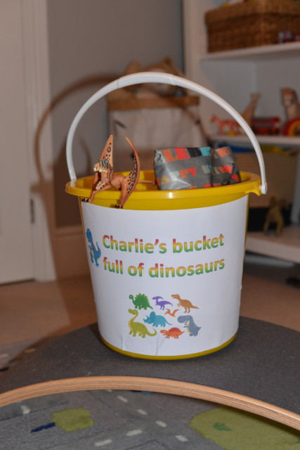 Harry's Bucketful of dinosaurs