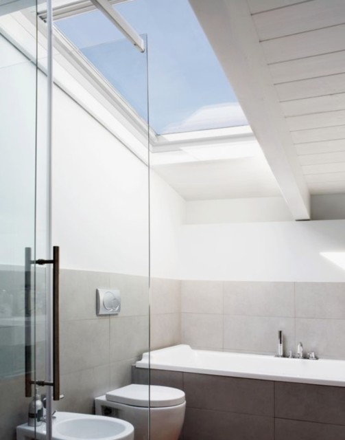 VELUX windows in a bathroom